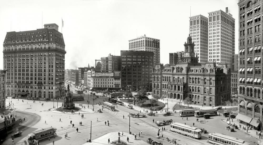 Quot Bustling Detroit Quot Vintage Photos Framed Photos